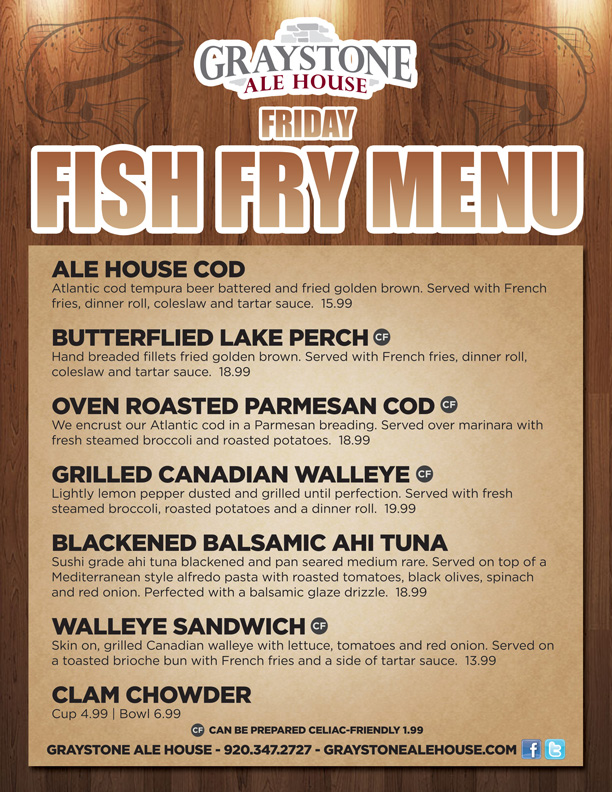 Graystone Ale House - Friday Fish Fry