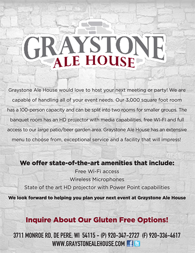 Graystone Ale House - Party Menu